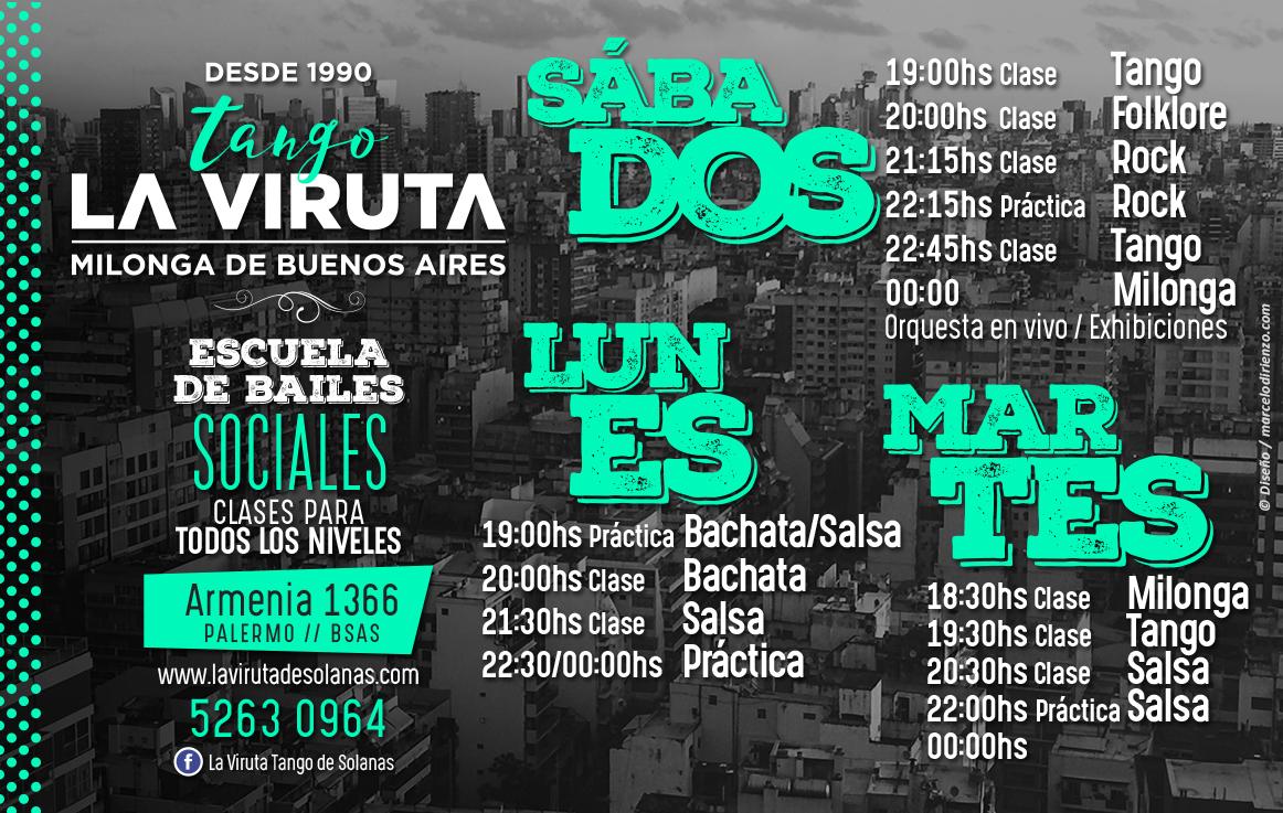 Flyer HORARIOS La Viruta de Solanas B